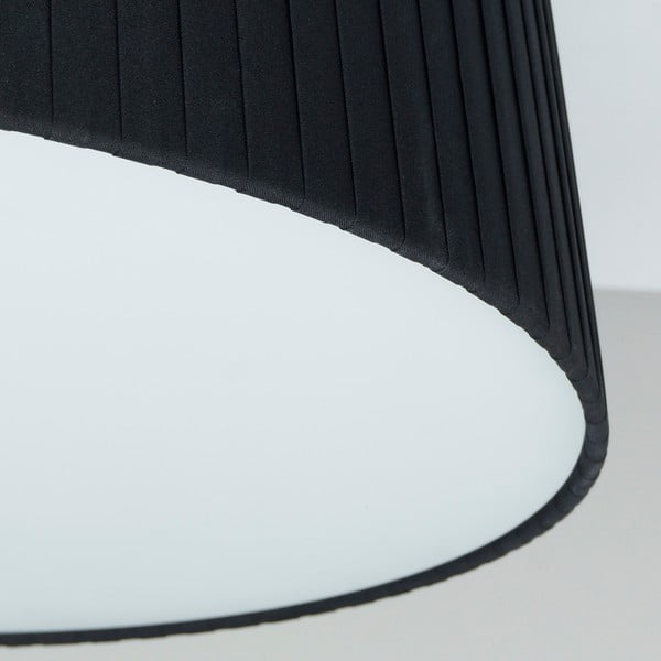 Czarno-biała   lampa Bulb Attack Dos Plisado, ⌀ 36cm