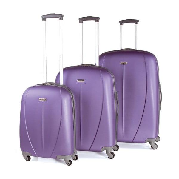 Zestaw 3 walizek Tempo Morado