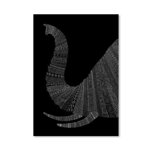 Plakat Elephant (On Black), 30x42 cm