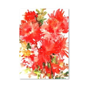 Plakat Red Dahlias (projekt Suren Nersisyan)
