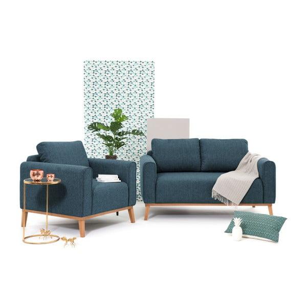 Niebieski fotel Vivonita Milton