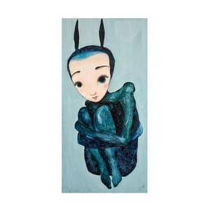 Plakat autorski: Léna Brauner W objęciach, 52x60 cm