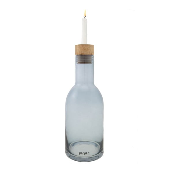 Wazon/świecznik Bottle 30,5 cm, niebieski