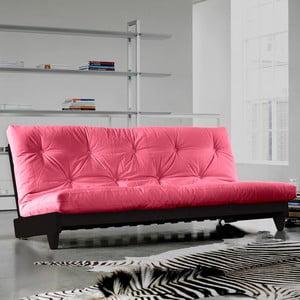 Sofa rozkładana Karup Fresh Wenge/Magenta