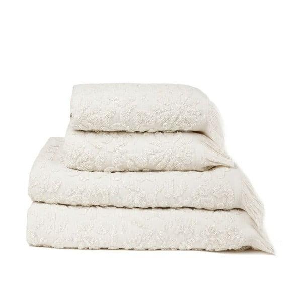 Zestaw 4 ręczników Riad Sand, 50x90 cm + 70x140 cm
