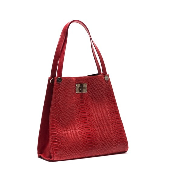 Skórzana torebka Anna Luchini 8038 Rosso