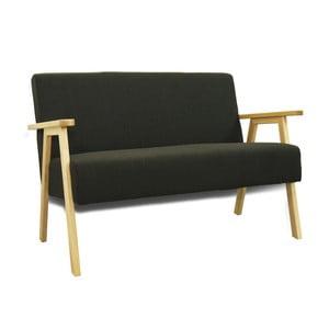 Czarna sofa Sinkro Retro