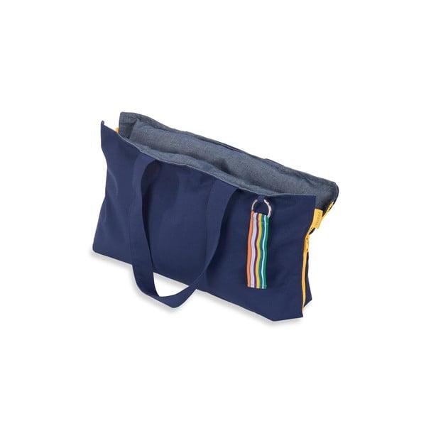 Przenośne siedzisko + torba Hhooboz 50x60 cm, granatowe