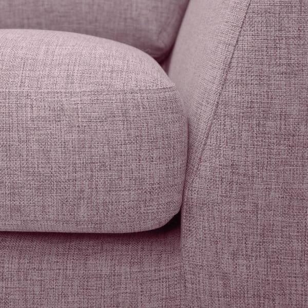 Różowa sofa z szezlongiem po lewej stronie Vivonita Monroe