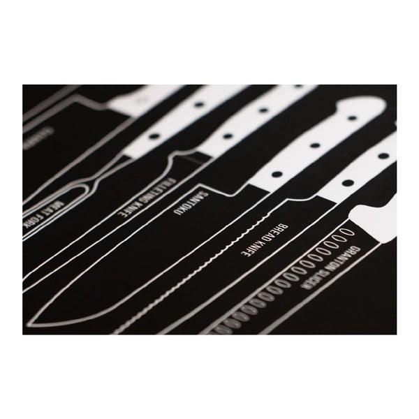 Plakat Knives 70x100 cm, czarny