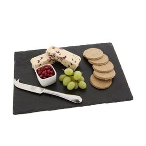 Deska do serów Rectangular, z łupka kamiennego, 35x25 cm