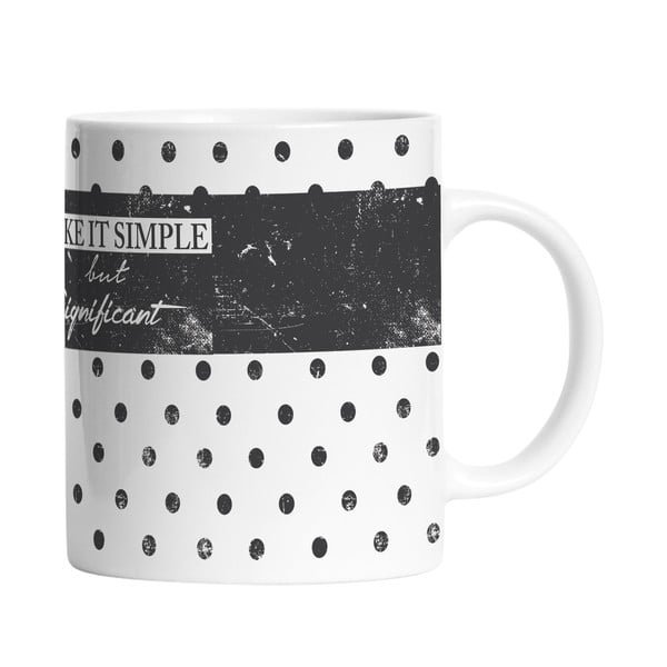 Ceramiczny kubek Make It Simple, 330 ml