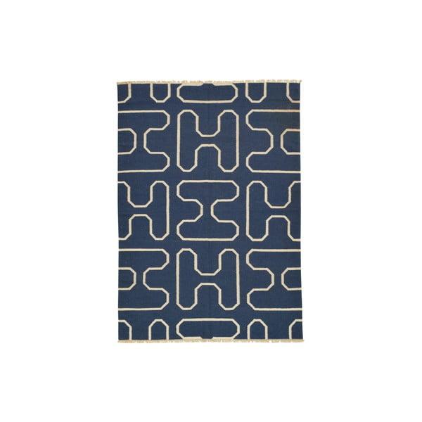 Ręcznie tkany dywan Blue H Kilim, 150x208 cm