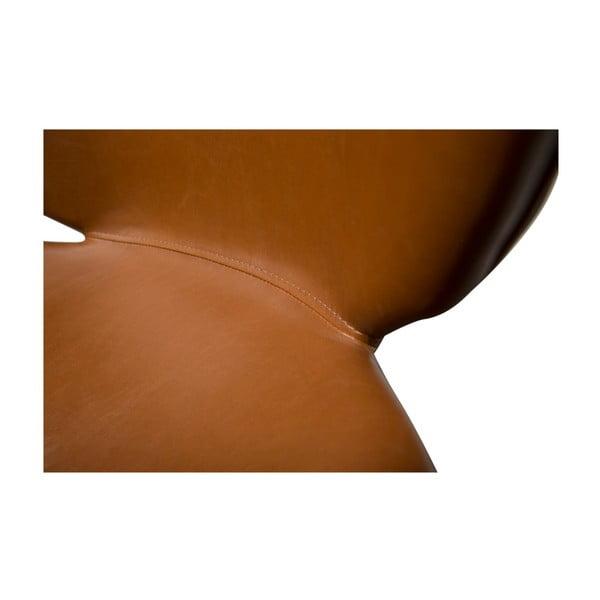 Brązowe krzesło ze skóry ekologicznej DAN-FORM Denmark Cloud