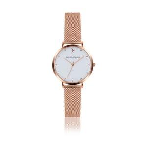Zegarek damski z paskiem ze stali nierdzewnej w miedzianym kolorze Emily Westwood Birdie