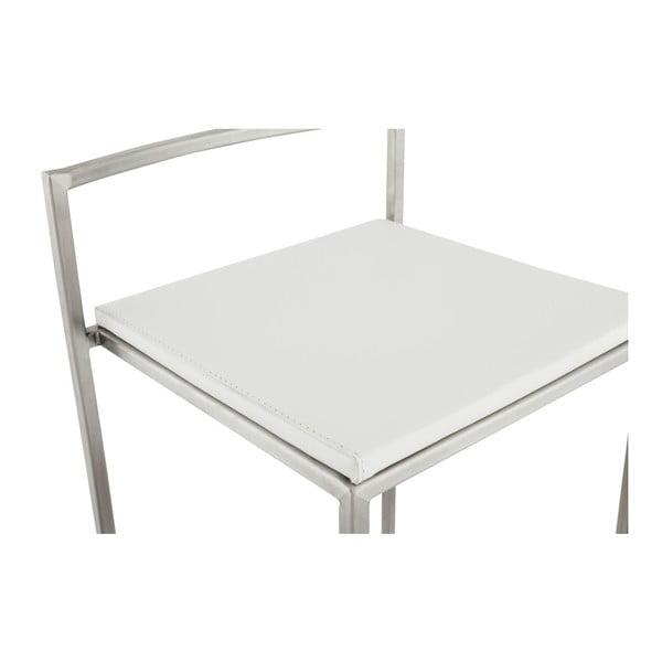 Hoker z białym siedziskiem Kokoon Meto, wys. siedziska 65 cm