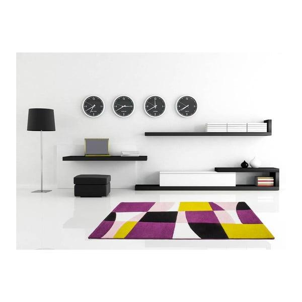 Dywan Lifestyle 171 czarny/ purpurowy, 80x150 cm