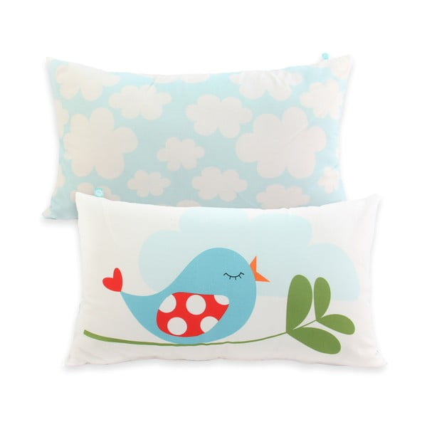 Dwustronna poszewka bawełniana na poduszkę Mr. Fox Little Birds 50x30 cm