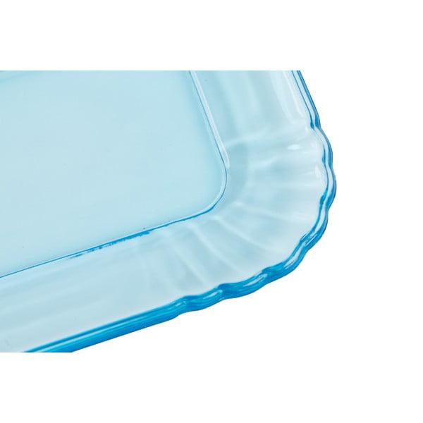 Jasnoniebieska taca szklana Kaleidos