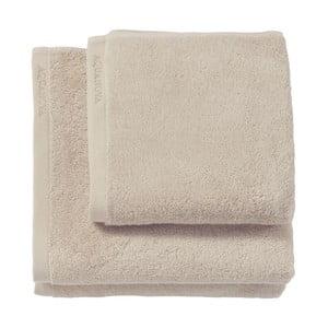 Beżowy ręcznik kąpielowy z bawełny egipskiej Aquanova London, 70x130 cm