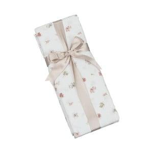 Bawełniane prześcieradło elastyczne na łóżko dwuosobowe Rose Buds, 160x200 cm