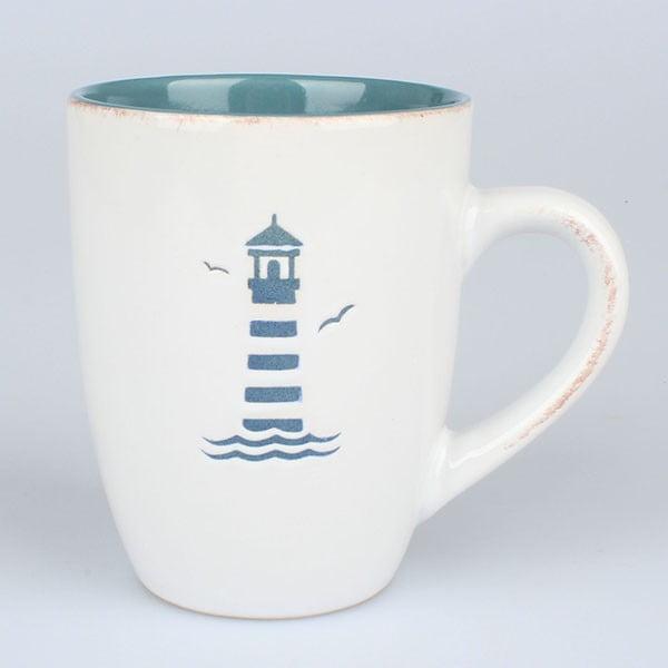 Ceramiczny kubek Latarnia morska, niebieski