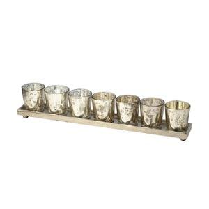 Zestaw świeczników z podstawką Tray, 42 cm
