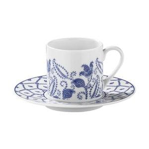 Zestaw 6 filiżanek porcelanowych ze spodkami Kutahya Ornament, 50 ml