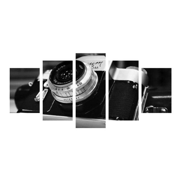Wieloczęściowy obraz Black&White Camera, 100x50 cm
