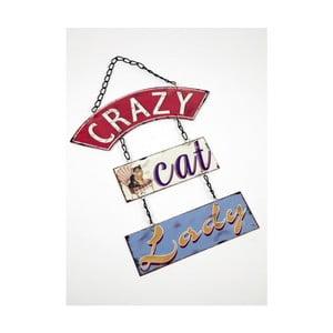 Vintage tablica Crazy Cat
