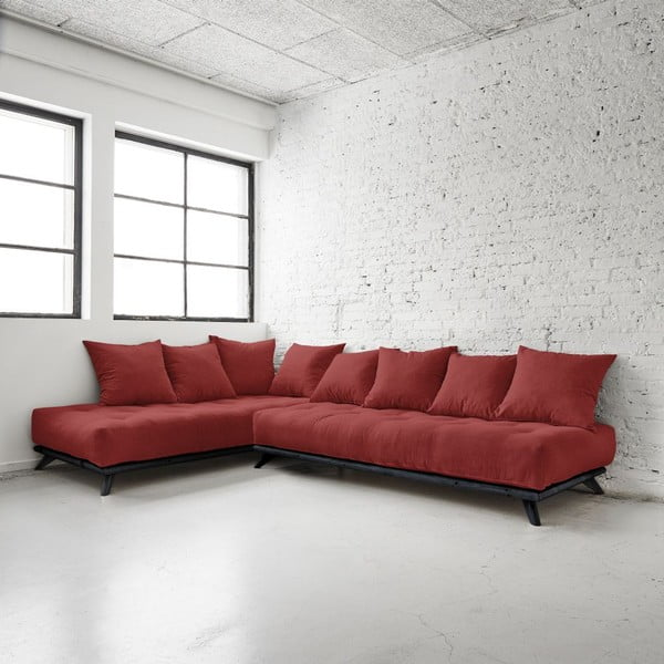 Sofa Senza Black/Passion Red