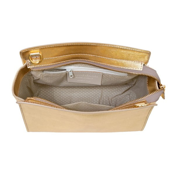 Złota torebka skórzana Andrea Cardone Mattia