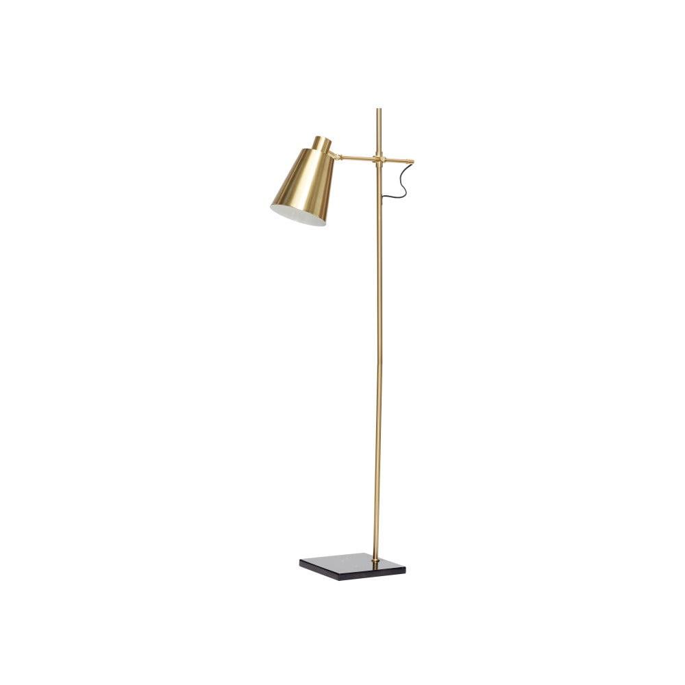 Lampa wolno stojąca w kolorze mosiądzu Hübsch Karmo