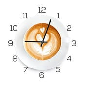 Zegar szklany DecoMalta Coffee Time, 30x30cm
