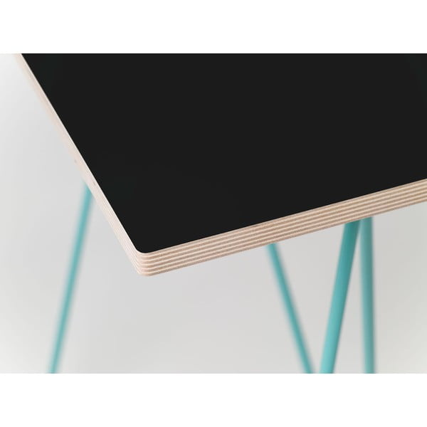 Blat do stołu Flat 150x75 cm, czarny