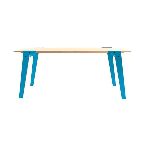 Niebieski stół/biurko rform Switch, blat 200x90 cm
