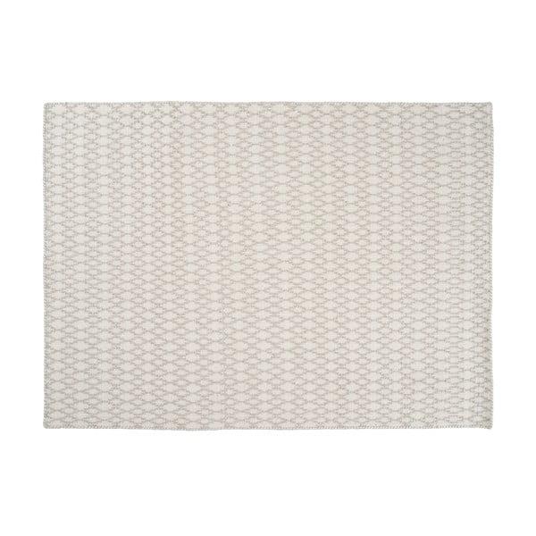 Wełniany dywan Elliot White, 200x300 cm