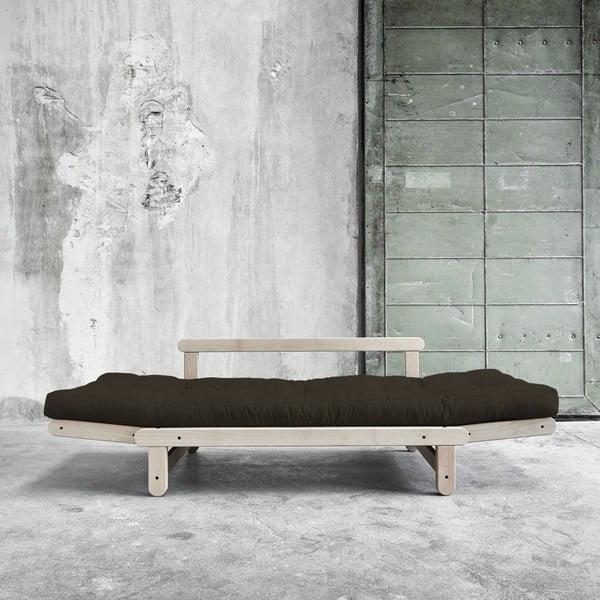 Sofa rozkładana Beat Beech/Choco Brown