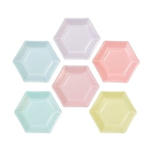 Zestaw 12 tacek papierowych v 6 různých barvách Talking Tables Unicorn