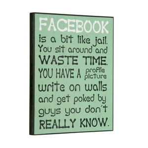 Tablica Facebook is a bit like, 30x25 cm