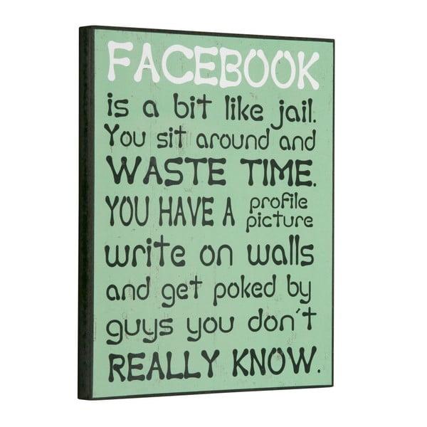 Tablica Facebook is a bit like, 30x25 cm