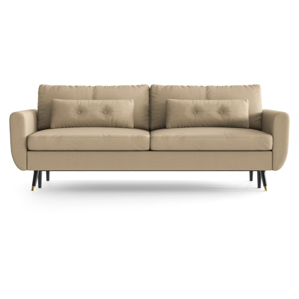 Piaskowa rozkładana sofa Daniel Hechter Home Alchimia