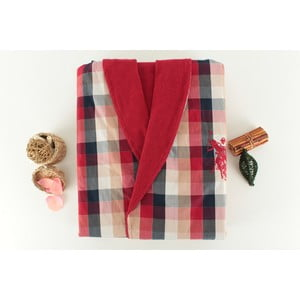 Szlafrok damski US Polo Red Check, M
