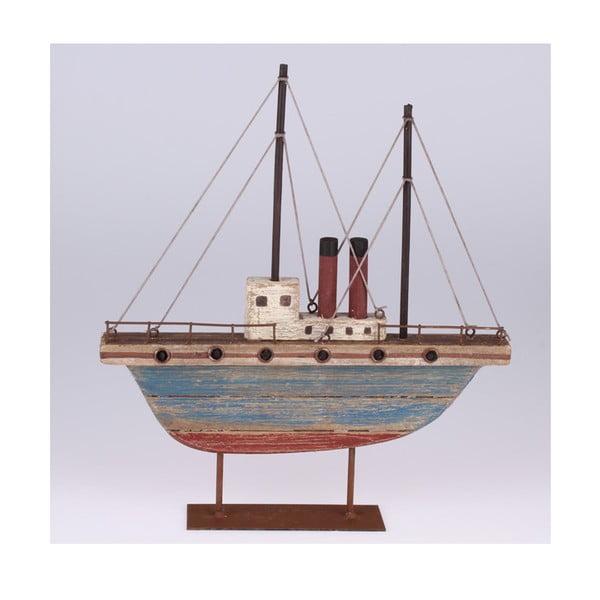 Drewniana dekoracyjna łódka