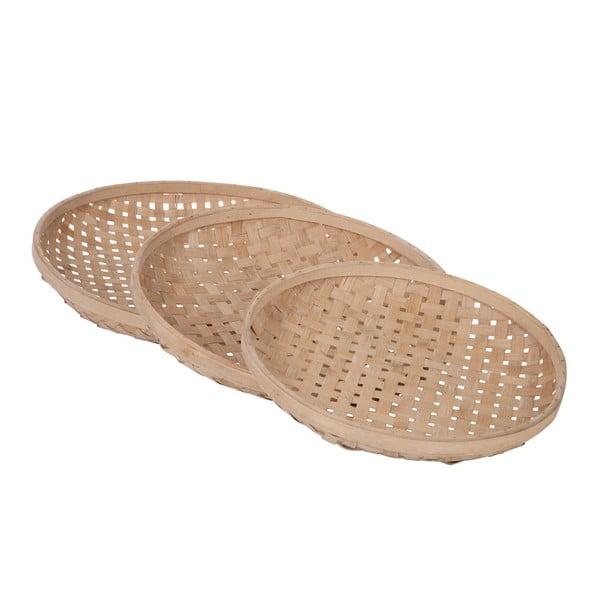 Zestaw 3 tac Bamboo Tray