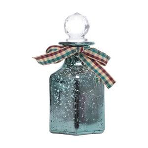 Zielona szklana buteleczka dekoracyjna Ewax