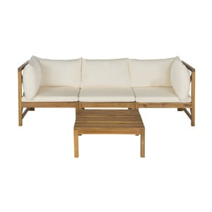Sofa i stolik ogrodowy Safavieh Sherwood Natural