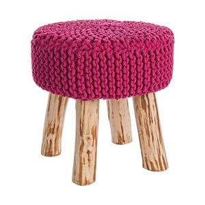 Taboret Weave, różowy