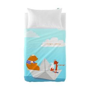 Dziecięca narzuta z poszewką na poduszkę Baleno Adventures, 100x130 cm