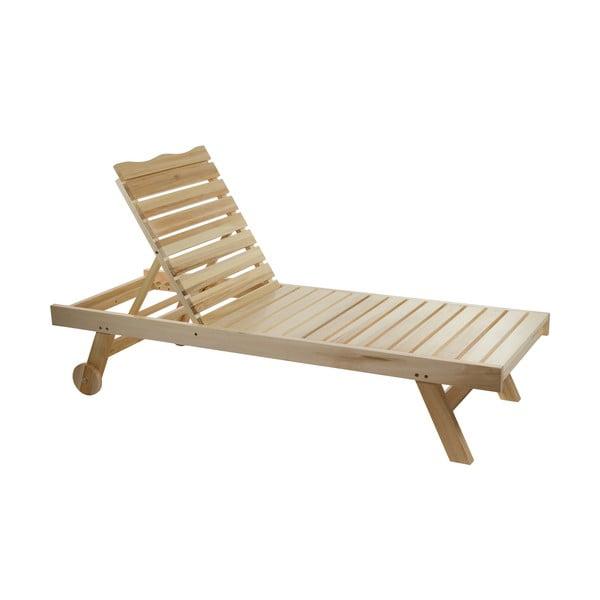 Leżak z regulacją pozycji z drewna topoli Santiago Pons